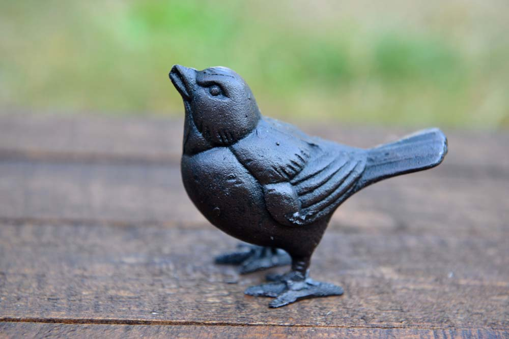 Sparrow Cast Iron Bird Ornament - Simply Roka
