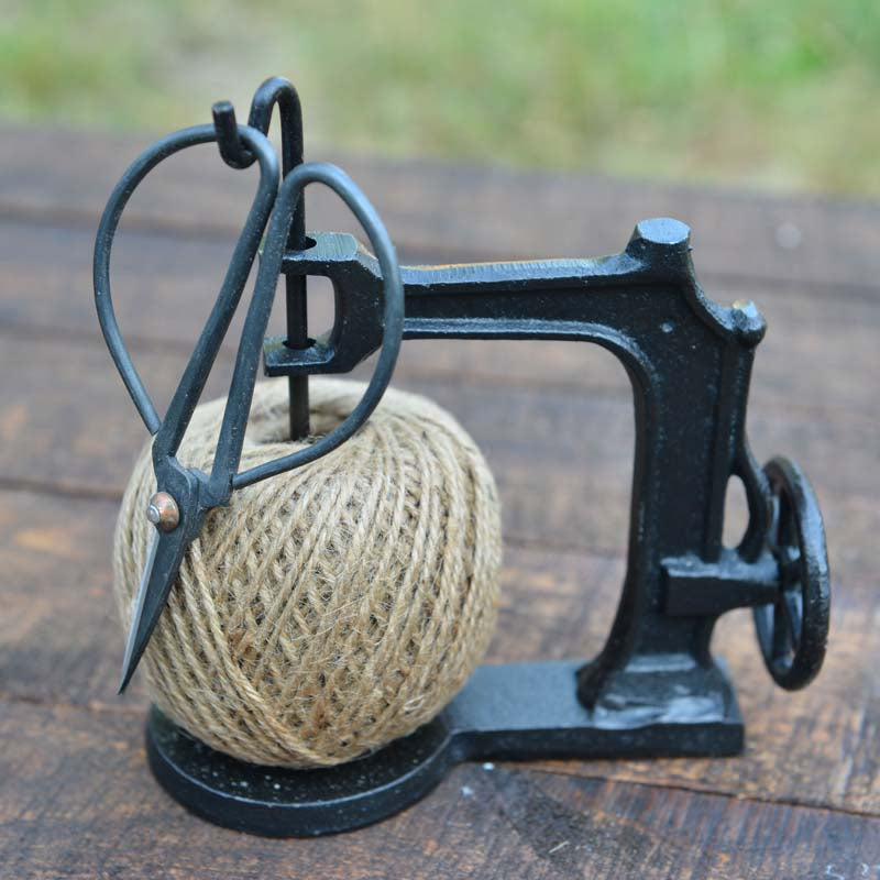 Cast Iron Sewing Machine String Holder + Scissors - Simply Roka