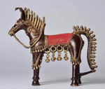 Brass Metal Horse - Tribal Dhokra Art Simply Roka