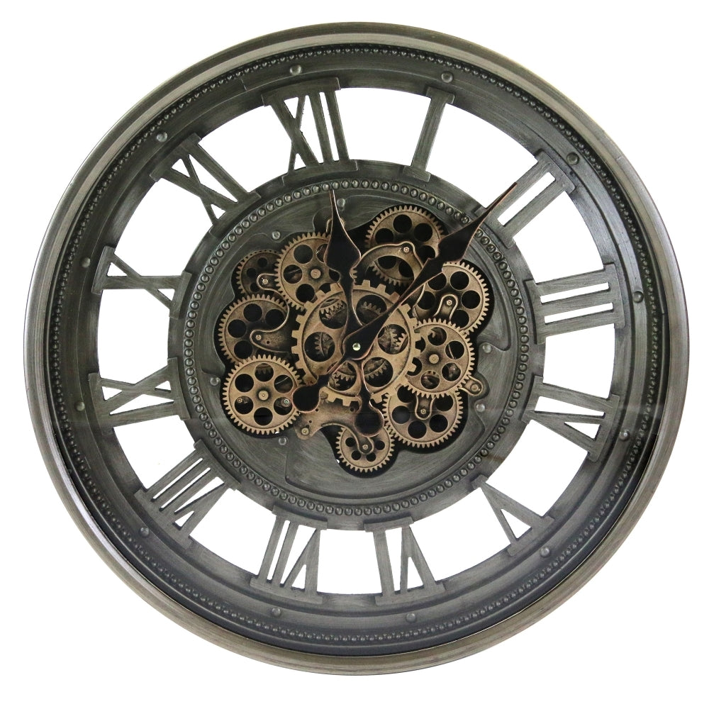 Large Skeleton Cog Wall Clock - Simply Roka