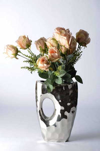 Piantago - Modern Vase - Curved with 'Peep-hole' - Simply Roka