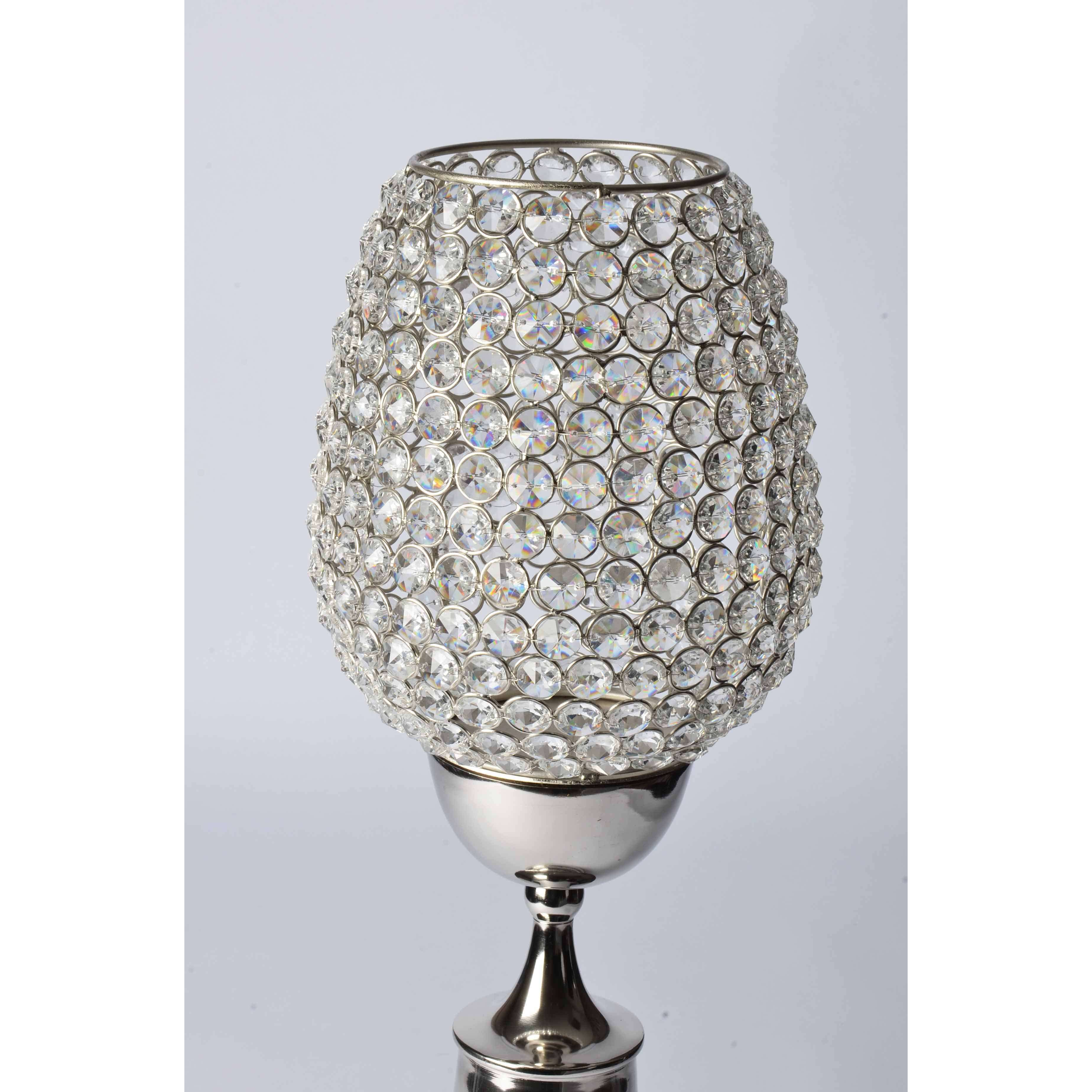 Abner - Crystals Candle Holder- Classic Stand with Goblet Simply Roka