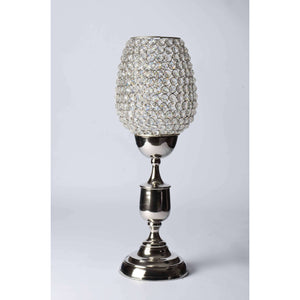 Abner - Glass Crystals Candle Holder- Classic Stand with Goblet Simply Roka