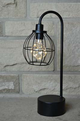 Battery Powered Table Lamp - Round - Simply Roka