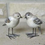 Finches Bird Ornaments set of 2 - Simply Roka