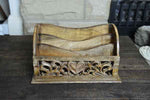 Mango Wood Heart Letter Rack - Simply Roka