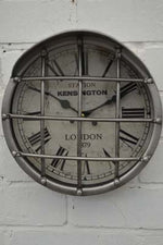 Industrial Round Wall Clock - Cage - Simply Roka