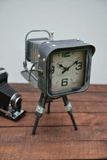 Vintage Camera Desk Clock - Simply Roka