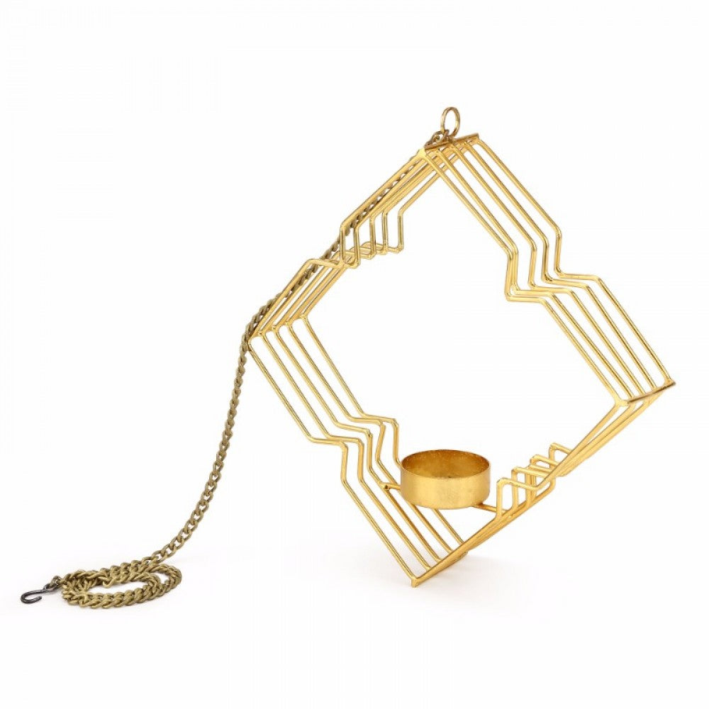 Metal Hanging Tealight Holder - Rhombus Simply Roka