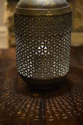 Large Filigree Lantern 30cm - Simply Roka