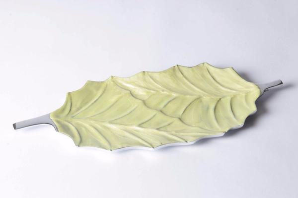 Epul - Botanics Enamelled Decorative Platter - Twin Leaf Simply Roka