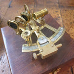 Vintage Brass Sextant Reproduction + wooden box Simply Roka
