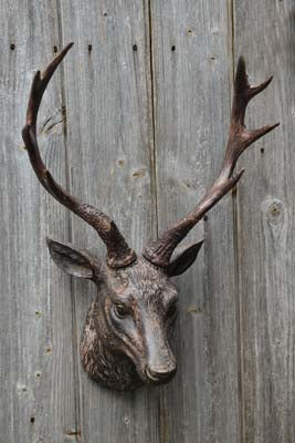 Brown Stag Head Wall Ornament - Simply Roka