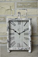 Distressed Mantel Desk Clock - Simply Roka