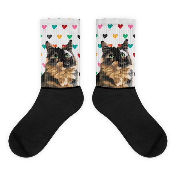 Custom Pet Socks (Colorful Hearts)