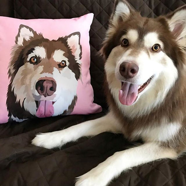 Custom Pet Couch Pillow With Cover Pet Canva