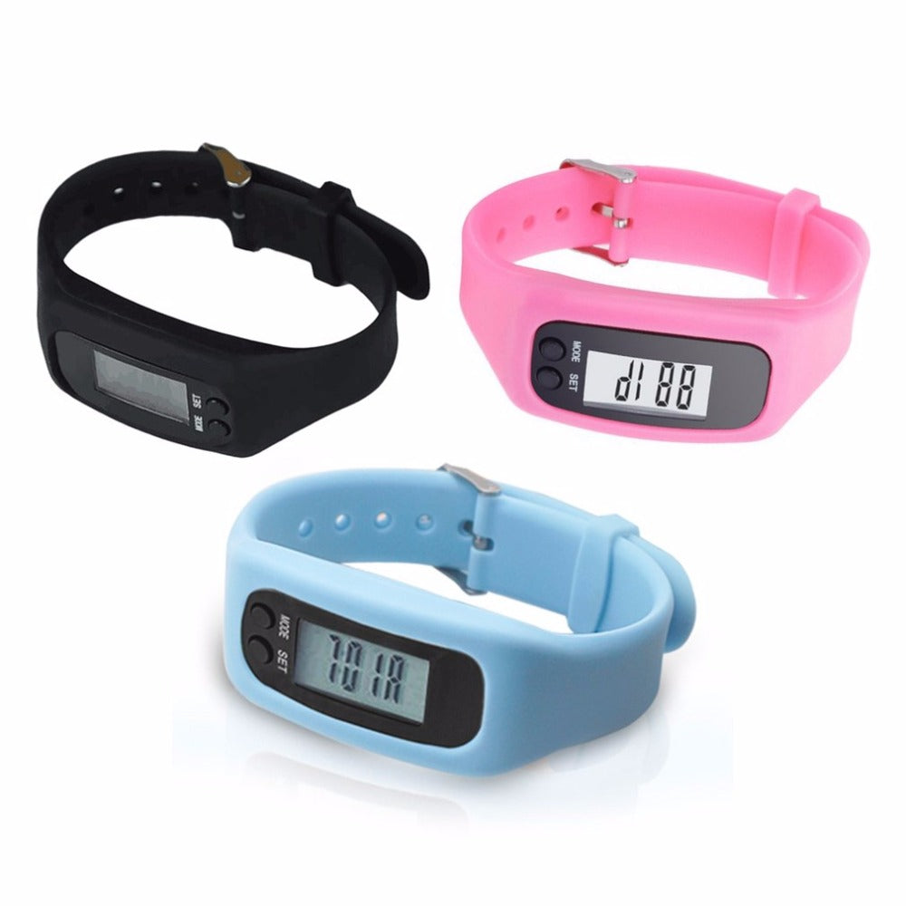 LCD Smart Wrist Watch Bracelet Pedometer Sports Monitor Running Exercising Step Counter Fitness Silicone Wristband