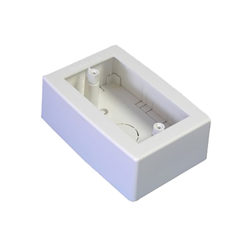 Caja de Registro Universal, color blanco de PVC auto extinguible