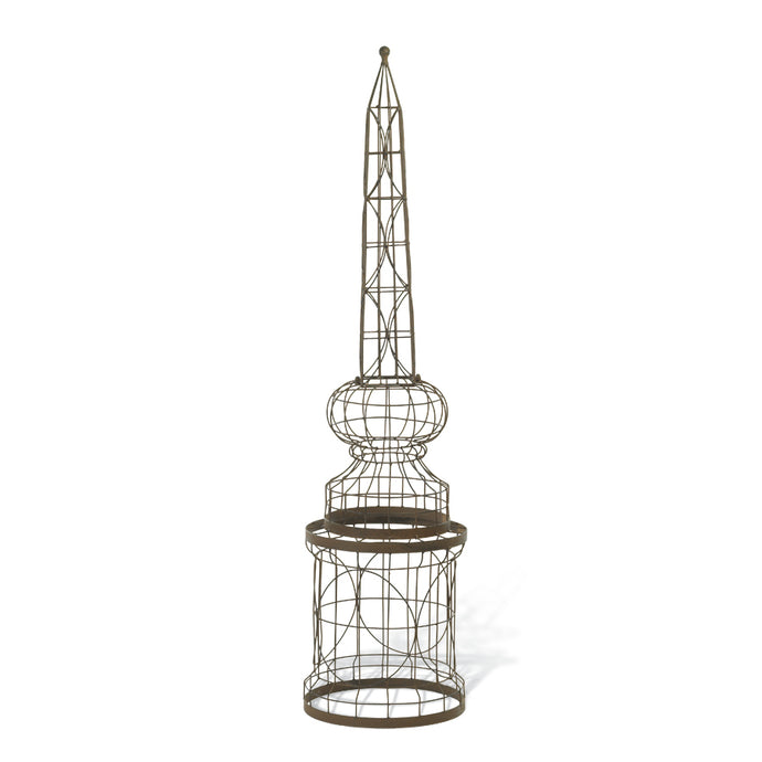 Round Metal Garden Trellis  37 Inches Tall