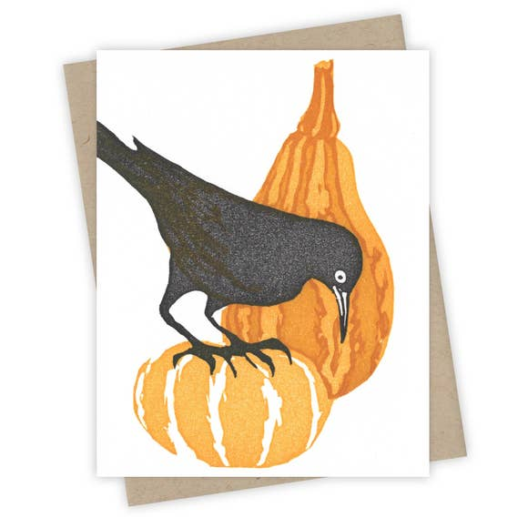 Autumn Harvest Grackle Card