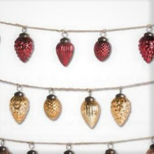 Mercury Glass Gold and Red Ornaments