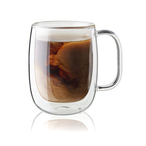 Zwilling Sorrento  Glass Double Walled Coffee Mug 12 oz           Set of 2