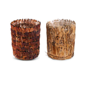 "Feather Containers 4"" 	Set of Two"