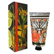 photo showing the packaging and tube of hand cream Bergamot & Ginger