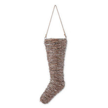 18 and 23 inch Glittered & Sisal Stocking Ornament