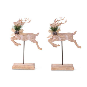 Jumping Reindeer with Bow