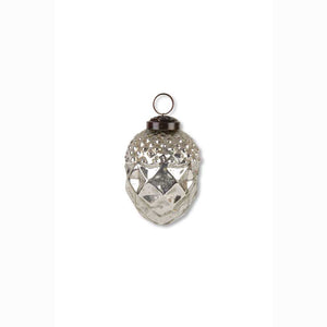 Mercury Glass  4 inch Acorn Ornament