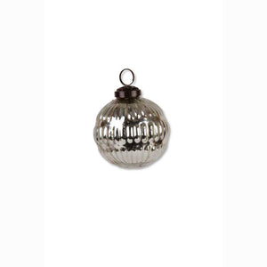 2.5 Inch Round Mercury Glass Ornament