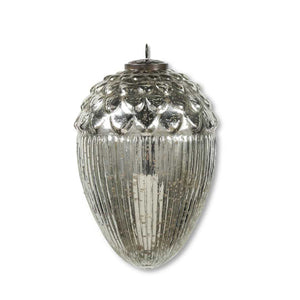 4 inch Oversize Mercury Glass Acorn Ornament