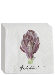 Artichoke  Beverage Napkins  16  per package