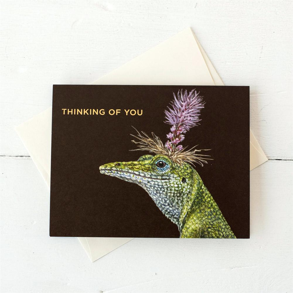 Bella Lizard Card - Thinking of You