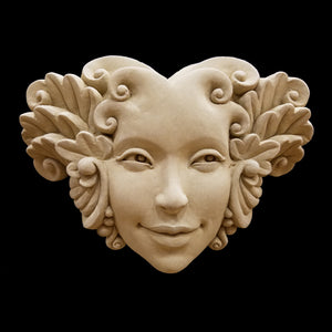 Flora botanical face plaque by Carruth Studios