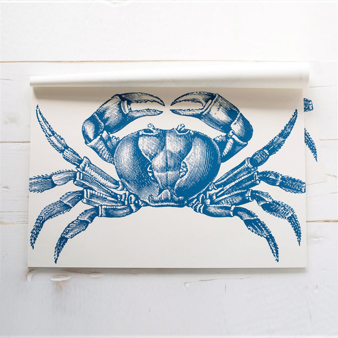 Crab Blue Disposable Placemat