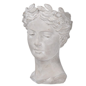 Large bust with wreath on head