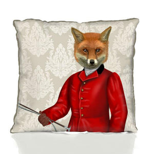 Fox in the Red Hunting Jacket Portrait by Fab Funky
