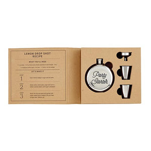 Cardboard Box Collection  Party Starter Flask Set