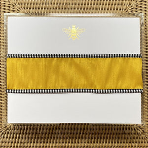 Gold Foil Bee Note Pad