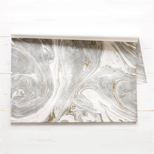Gray and Gold Marbled Placemat