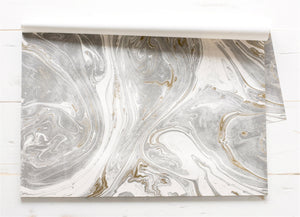 Gray and Gold Marbled Placemats