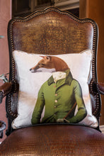 Fox in Green Jacket Pillow