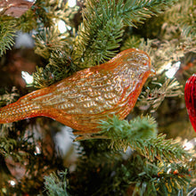 Bird Gold Glass Clip Ornament