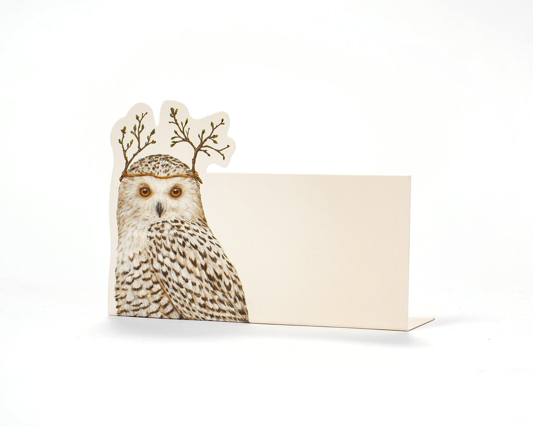 Winter Owls Place Cards
