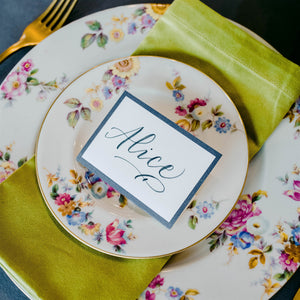 Gray Frame  Place Card