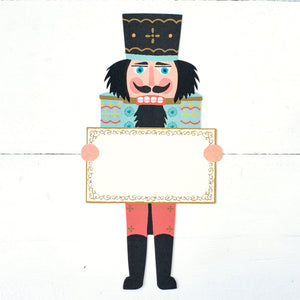 Traditional Soldier Nutcracker Red white/black hat 10""