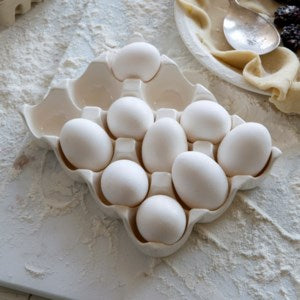 Ceramic Dozen Egg Holder