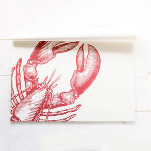 Red Lobster paper placemat